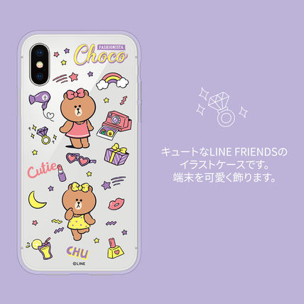 LINE FRIENDS スマホケース・テックアクセサリー iPhone X クリアケース LINE FRIENDS MY FAVORITE THINGS(9)