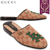 【正規品保証】GUCCI★18秋冬★10MM FLAMES GG LA CANVAS MULES