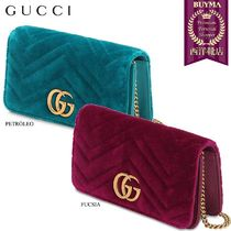 【正規品保証】GUCCI★18秋冬★MINI VELVET SHOULDER BAG
