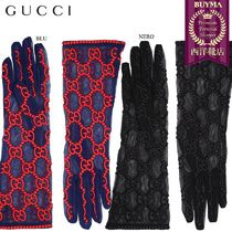 【正規品保証】GUCCI★18秋冬★GG EMBROIDERED TULLE GLOVES