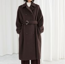 """""""& Other Stories"""" Duo D-Ring Belted Coat Brown"""