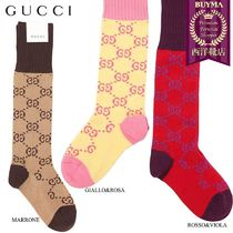 【正規品保証】GUCCI★18秋冬★GG COTTON KNEE HIGH SOCKS