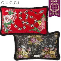 【正規品保証】GUCCI★18秋冬★SNAKE EMBROIDERED CUSHION