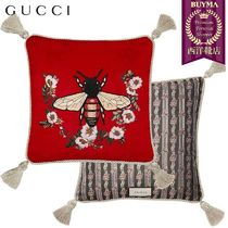 GUCCI(グッチ) クッション・クッションカバー 【正規品保証】GUCCI★18秋冬★BEE EMBROIDERED VELVET PILLOW