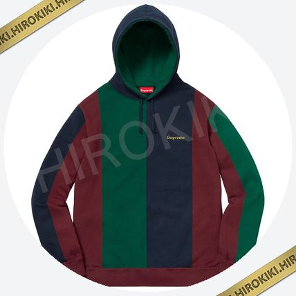 【18AW】Supreme Tricolor Hooded Sweatshirt トリコロール 赤
