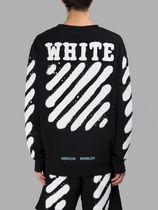 OFF WHITE 17SS DIAG SPRAY CREWNECK SWEATSHIRT