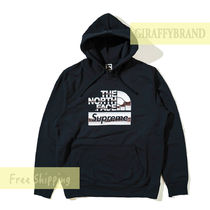 M-L ☆ 18SS SUPREME TNF Metallic Logo Hooded Sweatshirt
