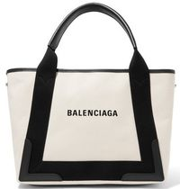 ★関税負担★BALENCIAGA★NAVY CABAS SMALL CANVAS TOTE