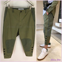 【18AW NEW】LOEWE_men/Cropped Button Trousers パンツ/カーキ