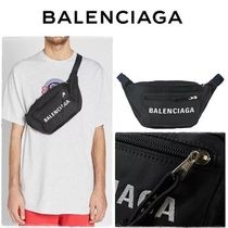 新作 Balenciaga  All Over Print Logo Nylon Waist バッグ