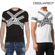 D SQUARED 2★S74GD0413 ロゴプリント・半袖Tシャツ