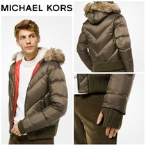【MICHAEL KORS】☆新作☆ Trimmed Quilted-Nylon Down Jacket