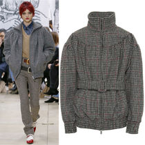 MM634 LOOK5 HOUNDSTOOTH CHECK WOOL JACKET