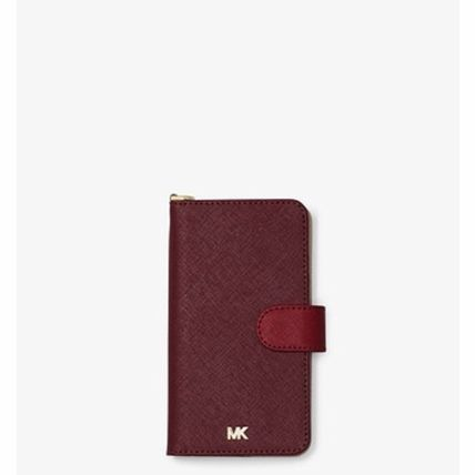 Michael Kors iPhone・スマホケース *国内発送* MK Color-Block Saffiano Leather Folio iPhone X(2)