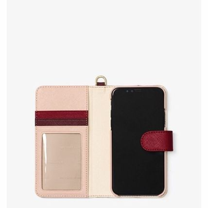 Michael Kors iPhone・スマホケース *国内発送* MK Color-Block Saffiano Leather Folio iPhone X(3)