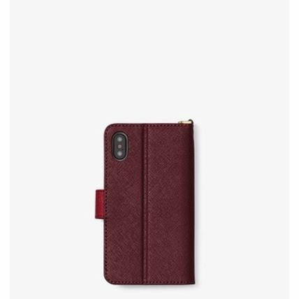 Michael Kors iPhone・スマホケース *国内発送* MK Color-Block Saffiano Leather Folio iPhone X(4)