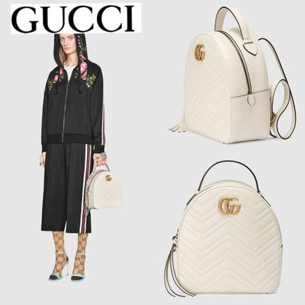 GUCCI バックパック・リュック 追跡有り配送!GUCCI(グッチ) GG Marmont Backpack