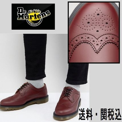 Dr Martens 3989 ブローグ in チェリーレッド