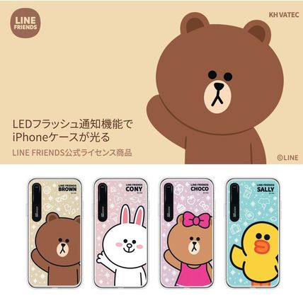 LINE FRIENDS スマホケース・テックアクセサリー iPhone XS/X/XR/XS Max ケース LINE FRIENDS LIGHT UP CASE