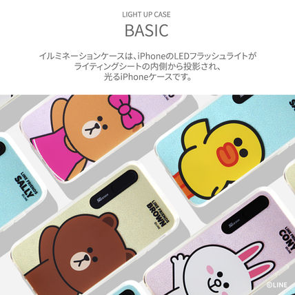 LINE FRIENDS スマホケース・テックアクセサリー iPhone XS/X/XR/XS Max ケース LINE FRIENDS LIGHT UP CASE(2)