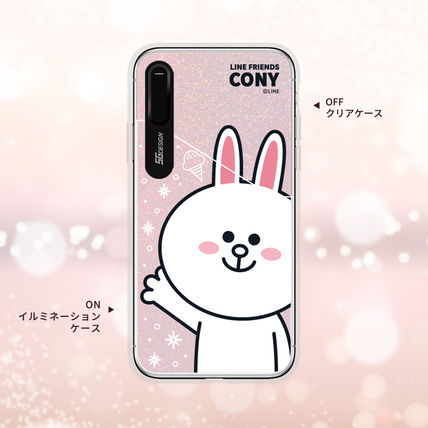 LINE FRIENDS スマホケース・テックアクセサリー iPhone XS/X/XR/XS Max ケース LINE FRIENDS LIGHT UP CASE(3)