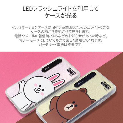 LINE FRIENDS スマホケース・テックアクセサリー iPhone XS/X/XR/XS Max ケース LINE FRIENDS LIGHT UP CASE(4)