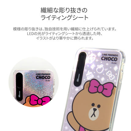 LINE FRIENDS スマホケース・テックアクセサリー iPhone XS/X/XR/XS Max ケース LINE FRIENDS LIGHT UP CASE(5)