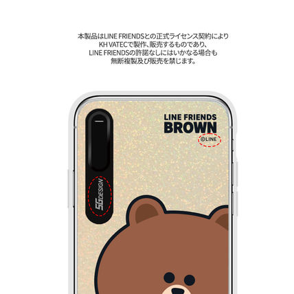 LINE FRIENDS スマホケース・テックアクセサリー iPhone XS/X/XR/XS Max ケース LINE FRIENDS LIGHT UP CASE(8)