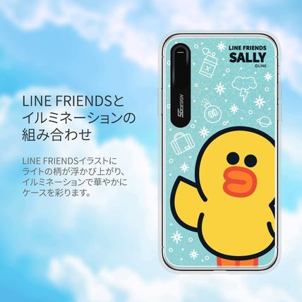 LINE FRIENDS スマホケース・テックアクセサリー iPhone XS/X/XR/XS Max ケース LINE FRIENDS LIGHT UP CASE(9)