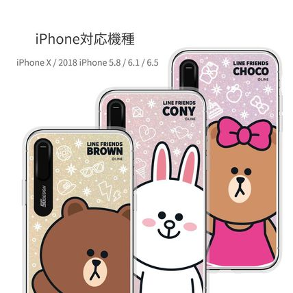 LINE FRIENDS スマホケース・テックアクセサリー iPhone XS/X/XR/XS Max ケース LINE FRIENDS LIGHT UP CASE(10)