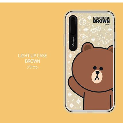 LINE FRIENDS スマホケース・テックアクセサリー iPhone XS/X/XR/XS Max ケース LINE FRIENDS LIGHT UP CASE(11)