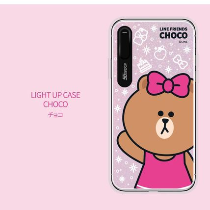 LINE FRIENDS スマホケース・テックアクセサリー iPhone XS/X/XR/XS Max ケース LINE FRIENDS LIGHT UP CASE(13)