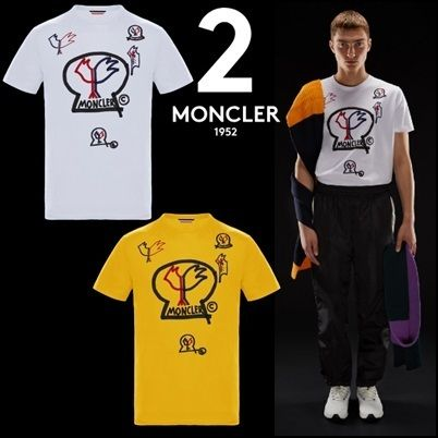 2018AW新作★MONCLERモンクレール★コットン プリント Tシャツ