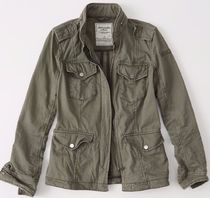 早い者勝ちWomens Military Twill Shirt Jacket