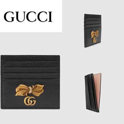 GUCCI スマホケース・テックアクセサリー 新作!GUCCI(グッチ) Leather card case with bow