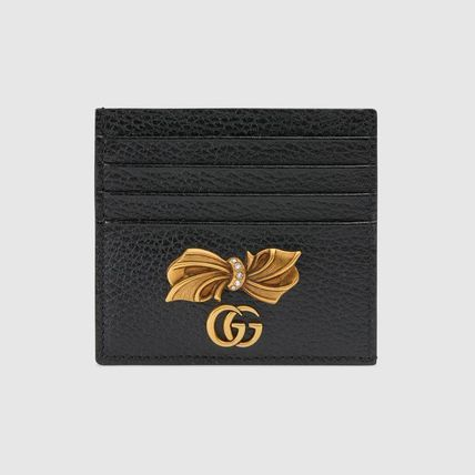 GUCCI スマホケース・テックアクセサリー 新作!GUCCI(グッチ) Leather card case with bow(2)