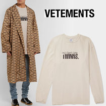 18-19AW☆VETEMENTS☆最新I Don't Care ロングスリーブT