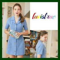 LUV IS TRUE(ラブ・イズ・トゥルー) ワンピース 日本未入荷!【LUV IS TRUE】RO STITCH OPS(BLUE)