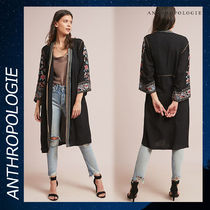 Anthropologie Flo Embroidered トップス カーディガン ブラック