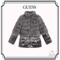 Guess(ゲス) キッズアウター 大人もOK! GUESS☆Girls Grey ファーコート