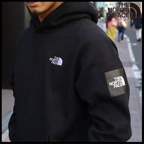 国内発送★THE NORTH FACE SQUARE LOGO PULLOVER HOODIE★BLACK