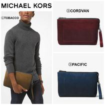 【MICHAEL KORS】☆18-19AW新作☆ Henry Suede Portfolio Pouch