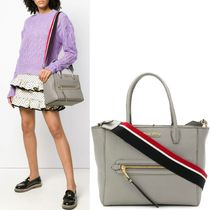 MM665 MADRAS LEATHER TOTE BAG