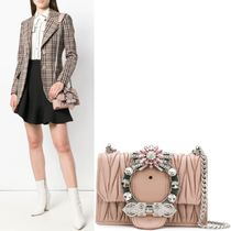 MM666 MIU LADY SHOULDER BAG IN MATELASSE LEATHER