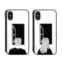 iPhone XS / X ケース Dparks spirit case 窓際の男 窓際の女