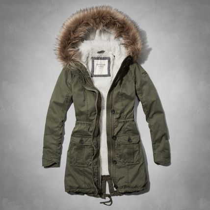 Abercrombie & Fitch コート 在庫わずか!MEG SHERPA LINED PARKA(2)
