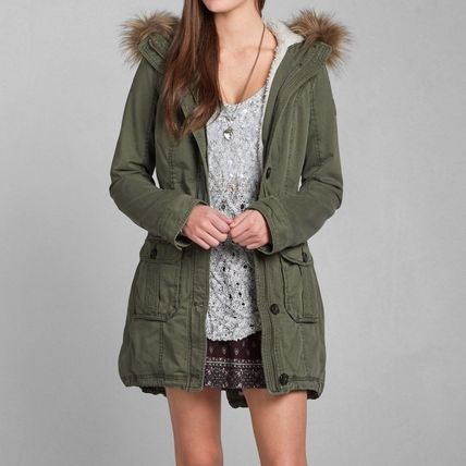 Abercrombie & Fitch コート 在庫わずか!MEG SHERPA LINED PARKA(3)