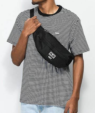 1f5444ce62 ... OBEY ショルダーバッグ OBEY☆Drop Out Black Sling Pack 2Wayロゴ入り ウェストバッグ( ...