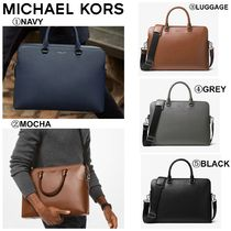 【MICHAEL KORS】☆18-19AW新作☆ Harrison Leather Briefcase