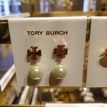2018AW♪ Tory Burch ★ LOGO PEARL DROP EARRING : ピアス
